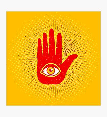 Hand and eye Photographic Print