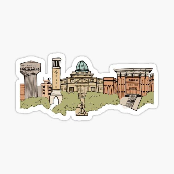 Skyline d'Aggieland Sticker
