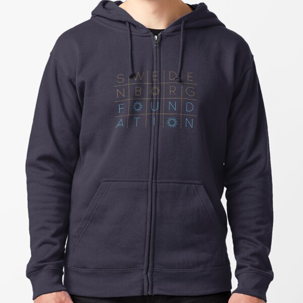 "Swedenborg Foundation ""Grid Design"" 2 Zipped Hoodie"