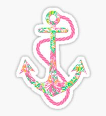 Lilly Pulitzer Preppy SeaSide Anchor Sticker