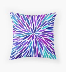 Lavender Burst Throw Pillow