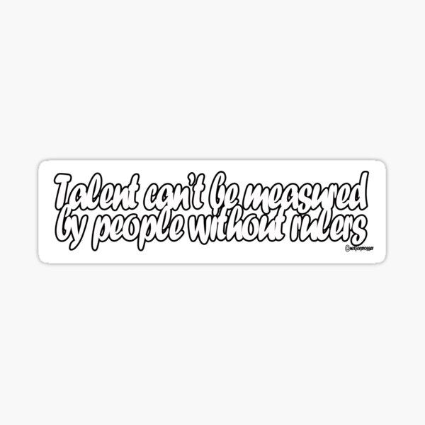 Talent Sticker