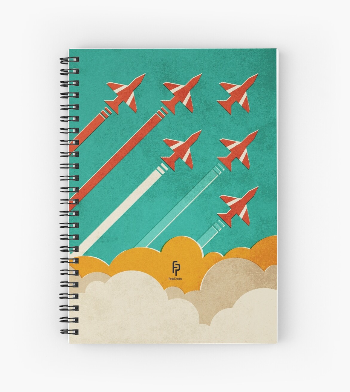 The Red Arrows over the Thames Estuary by FendellPosters