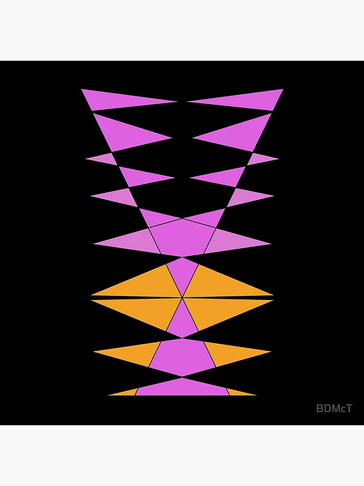Purple Orange Easy Geometric Designs Repeating Geometric Pattern by BDMcT