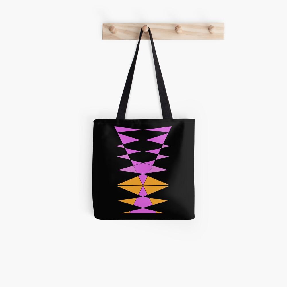 Purple Orange Easy Geometric Designs Repeating Geometric Pattern Tote Bag
