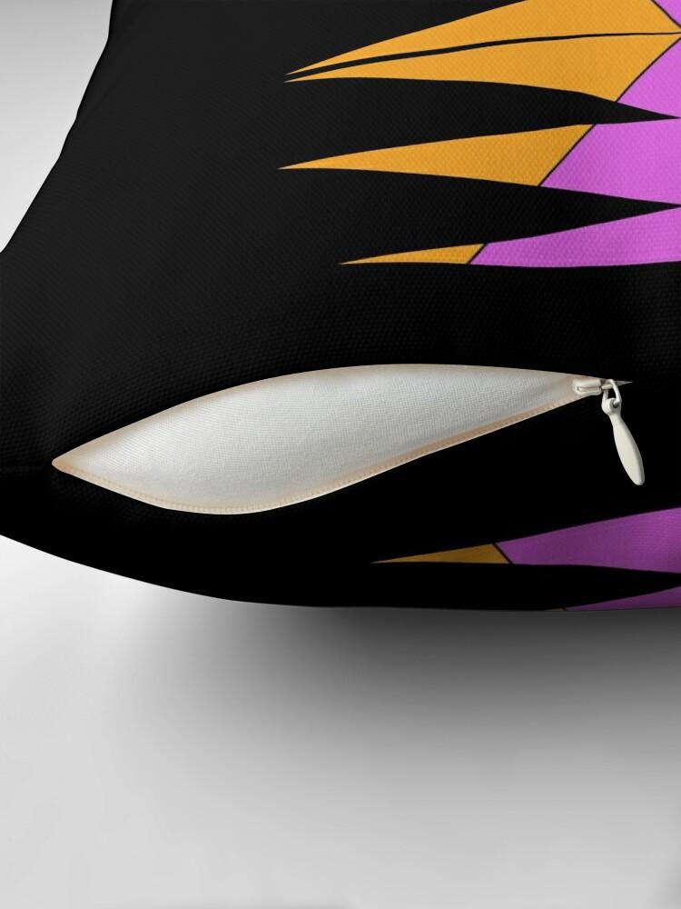 Alternate view of Purple Orange Easy Geometric Designs Repeating Geometric Pattern Throw Pillow