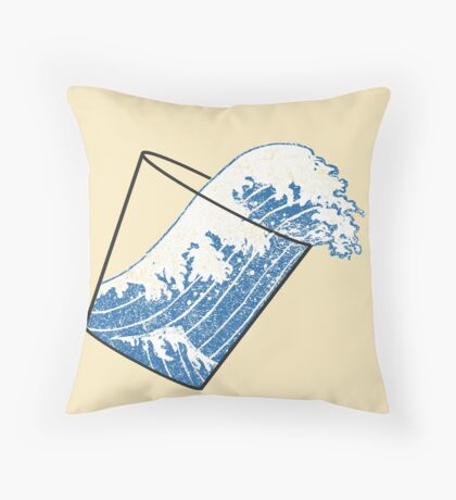 Glass Half Full Event Horizon Throw Pillow