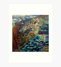 figurehead or ... fishing Art Print