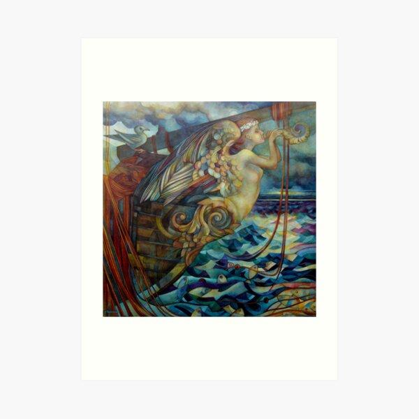 figurehead or ... fishing Art Print