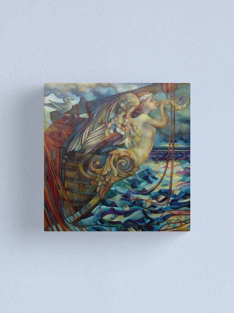 Alternate view of figurehead or ... fishing Canvas Print