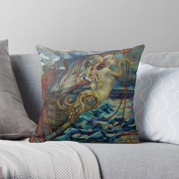 figurehead or ... fishing Throw Pillow