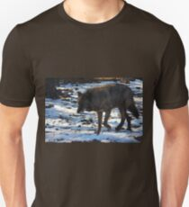 """Timber Wolf on the Prowl"" Unisex T-Shirt"