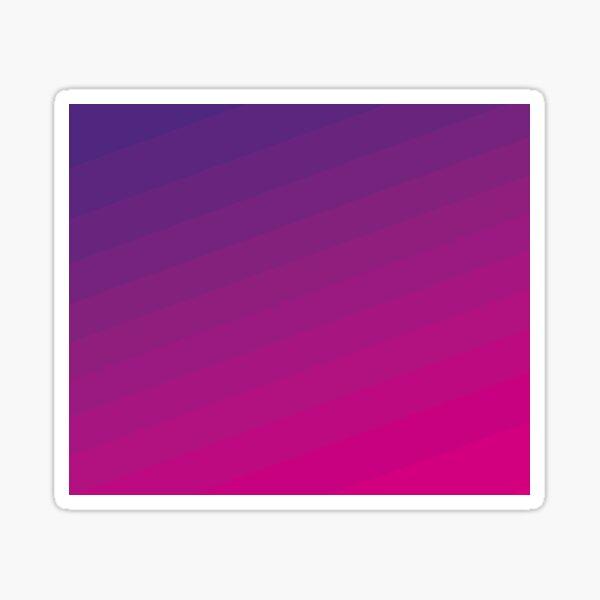 Retro gradient pink and purple Sticker