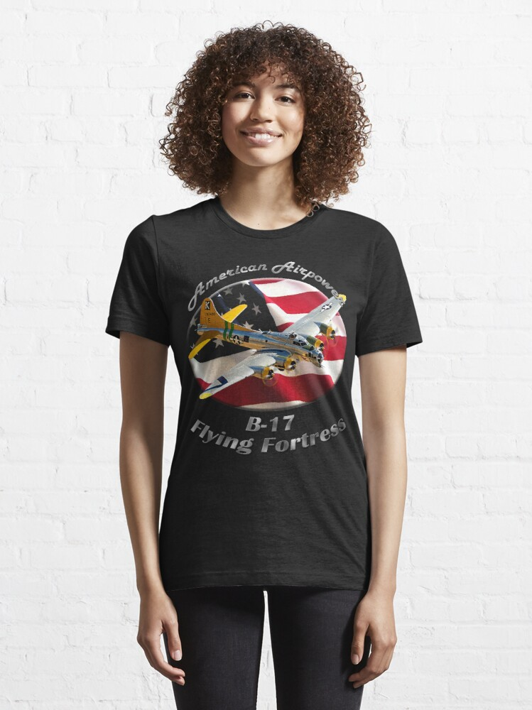 Alternate view of B-17 Flying Fortress American Airpower Essential T-Shirt