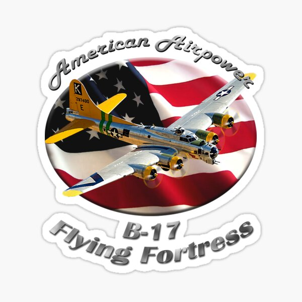 B-17 Flying Fortress American Airpower Sticker