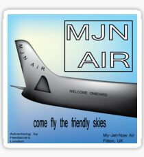Come Fly the Friendly Skies Sticker
