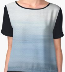 Seascape - Misty Blue Women's Chiffon Top
