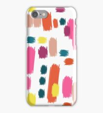 Abstract Finger Smudge Painting iPhone Case/Skin
