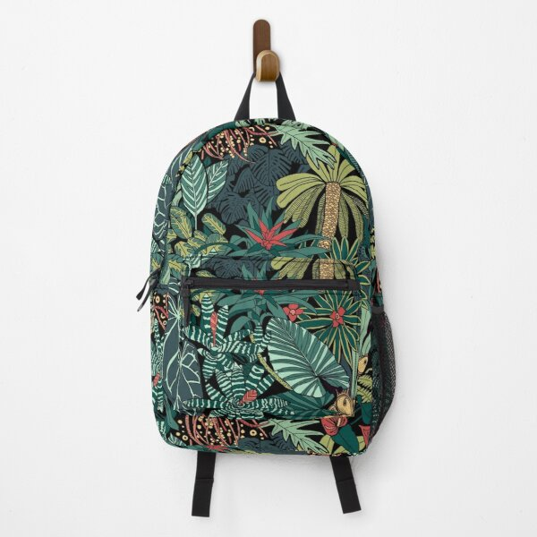 Jungle Leaves Pattern/ Tropical Rainforest Backpack