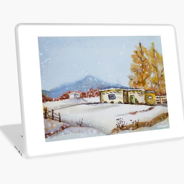 Cottage In The Snow Laptop Skin