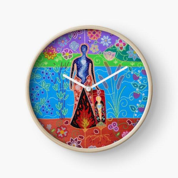 ᐃᐢᑫᐧᐤ (iskwêw/woman) Clock