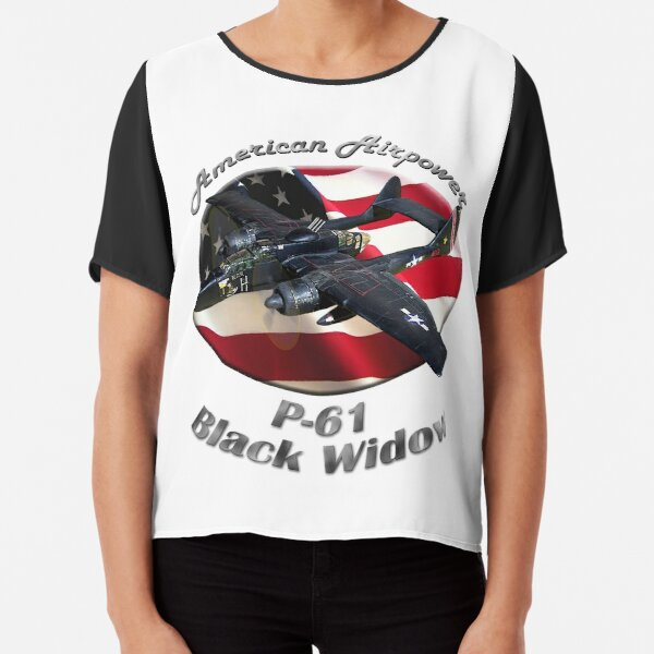 P-61 Black Widow American Airpower Chiffon Top