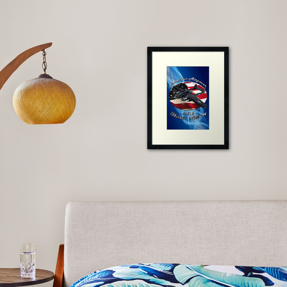 P-61 Black Widow American Airpower Framed Art Print