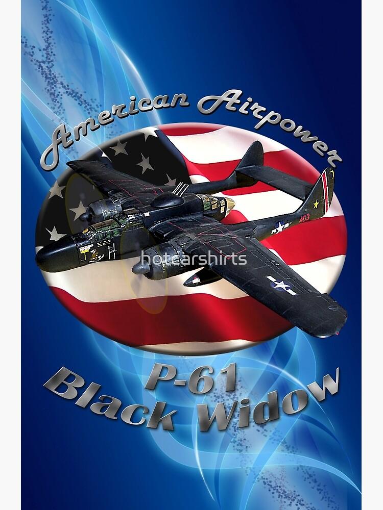 P-61 Black Widow American Airpower by hotcarshirts
