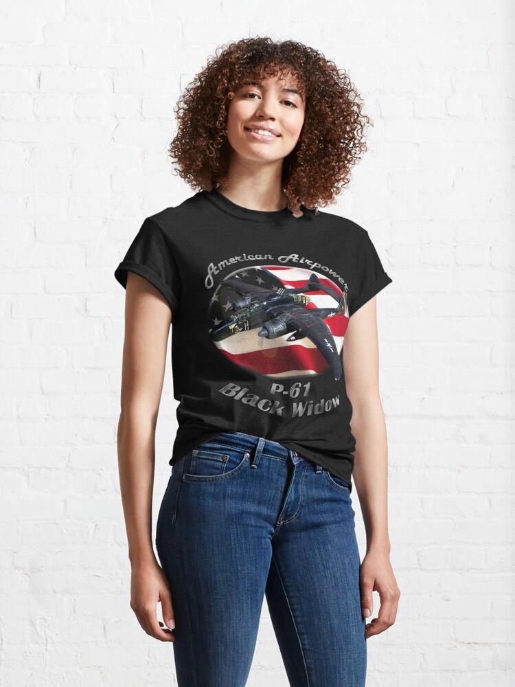 Alternate view of P-61 Black Widow American Airpower Classic T-Shirt