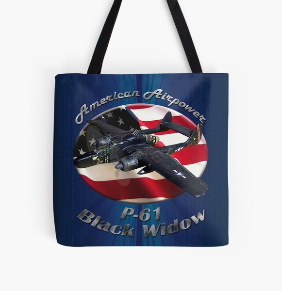 P-61 Black Widow American Airpower All Over Print Tote Bag