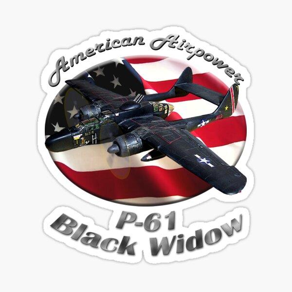 P-61 Black Widow American Airpower Sticker