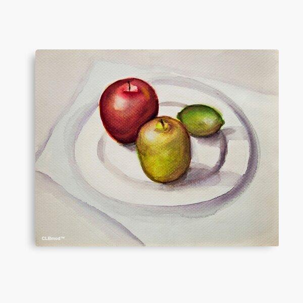 Apples and Lemon Canvas Print