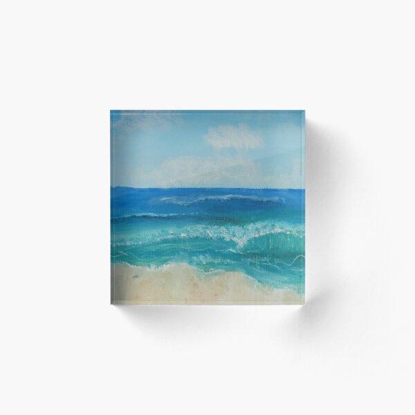 Beach Vacation Acrylic Block