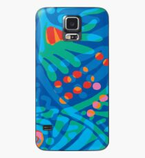 Colorful Tropical Print Abstract Art Mini Skirt in Blue and Green Case/Skin for Samsung Galaxy