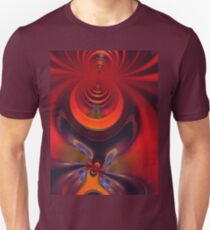 Amber Goddess - Orange and Gold Passion Unisex T-Shirt