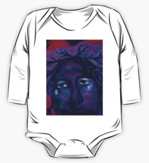 Mother Watching All - Crimson & Violet Compassion  One Piece - Long Sleeve