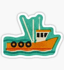 Fishing Trawlers on The Thames Estuary Sticker