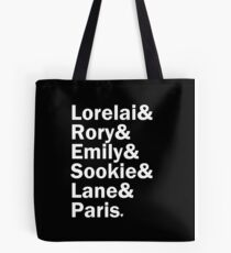 Gilmore Girls - Lorelai & Rory & Emily & Sookie & Lane & Paris | Black Tote Bag