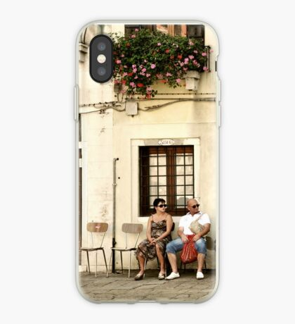 Two empty chairs iPhone Case