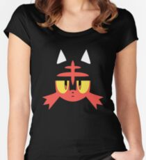 Pokemon Sun / Moon Litten New  Women's Fitted Scoop T-Shirt