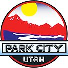 Park City Utah Mountains River Skiing Sun by MyHandmadeSigns