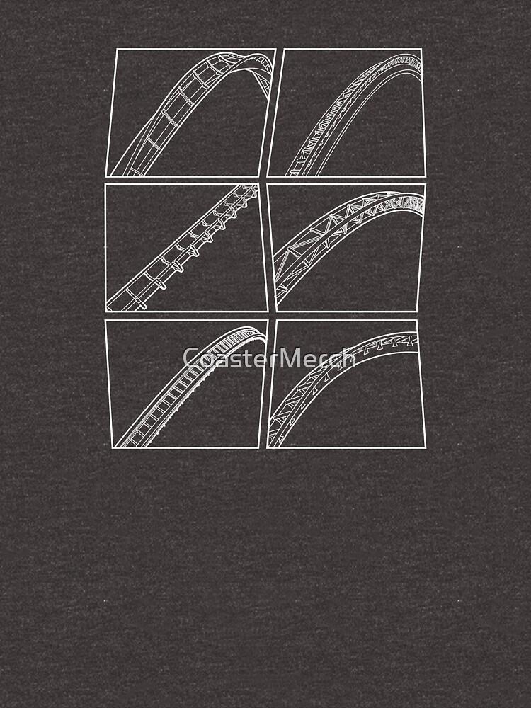 Rollercoaster Track Design - White by CoasterMerch