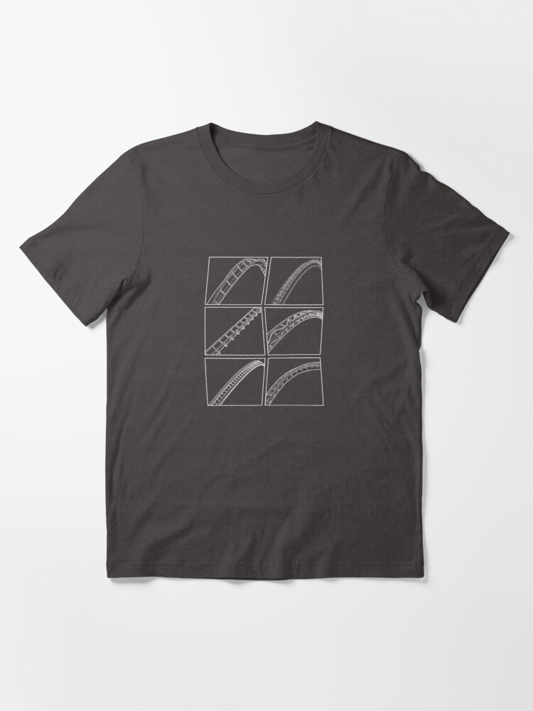 Alternate view of Rollercoaster Track Design - White Essential T-Shirt