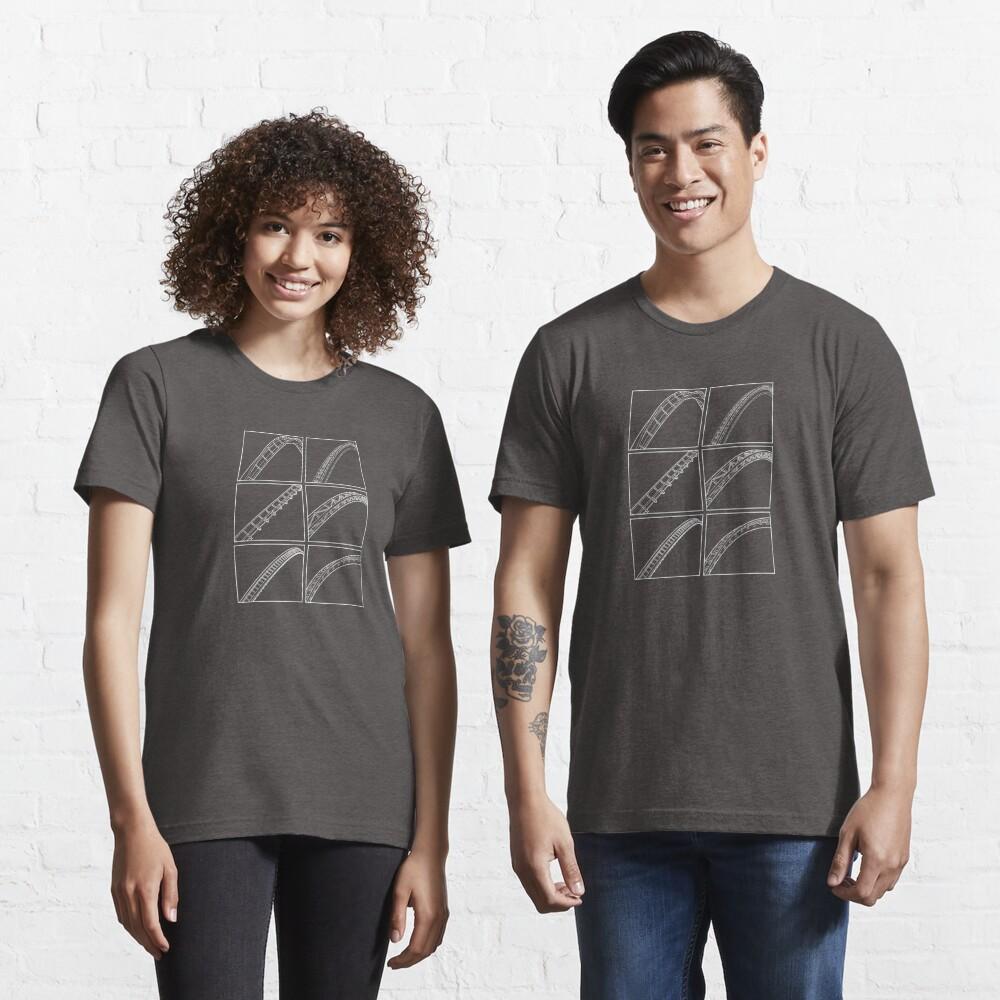Rollercoaster Track Design - White Essential T-Shirt