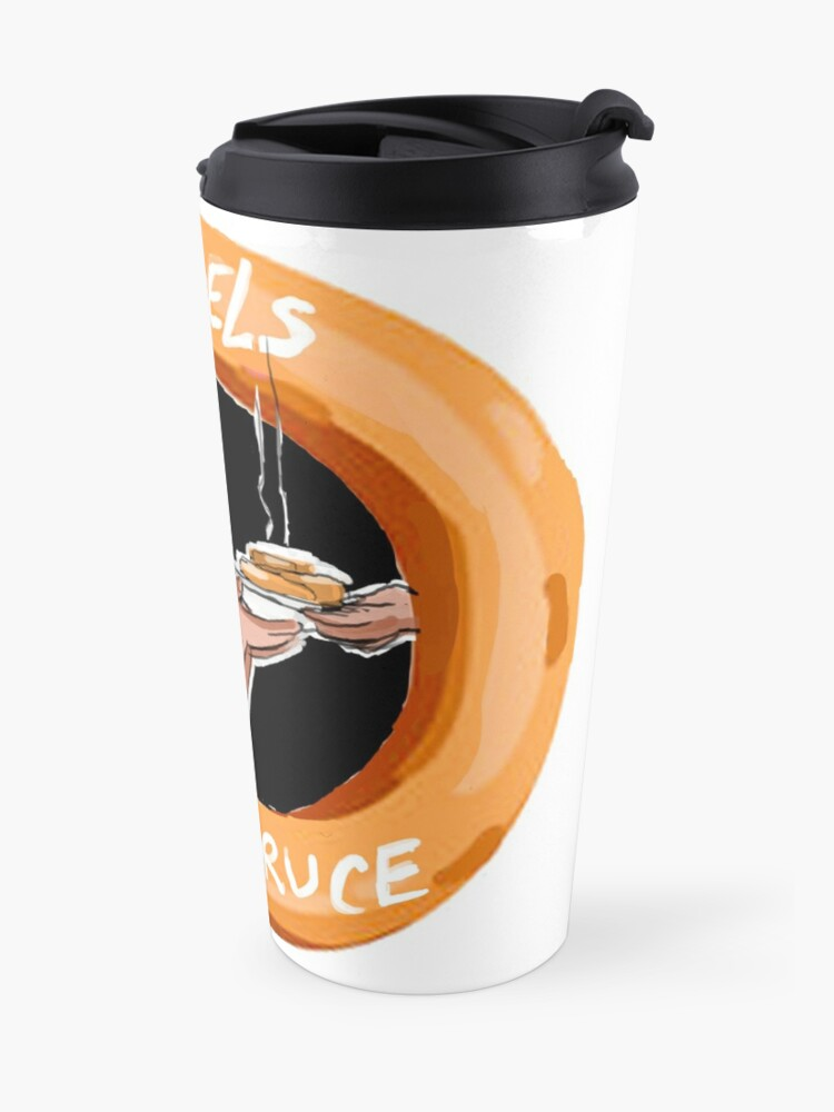 Alternate view of Bagels With Bruce Travel Mug