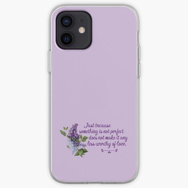 Bridgerton Quote Worthy of Love iPhone Soft Case