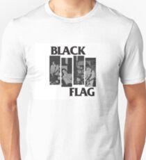 BLACK FLAG - 4 Bar Logo Live Band Montage Unisex T-Shirt