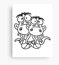 friends team papa child son family couple cartoon comic funny humorous 2 snakes cool Canvas Print