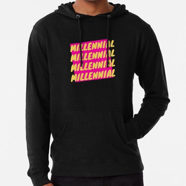 millennial generation vibe Lightweight Hoodie