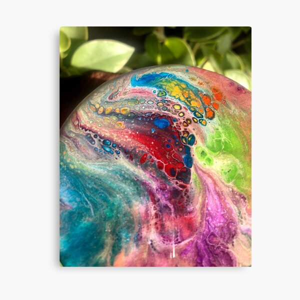 Rainbow Pour Canvas Print